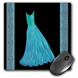 3dRose LLC 8 x 8 x 0.25 Inches Mouse Pad, Tifany Blue and Turquoise (mp_30276_1)