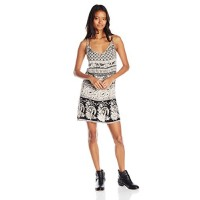 Angie Junior's Double Strap Black and White Dress, Small