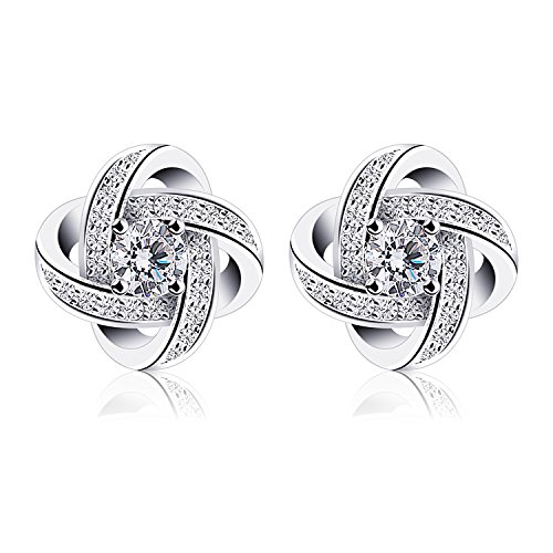 B.Catcher Earrings for Woman Silver Earrings Studs Cubic Zirconia Gemini Sets