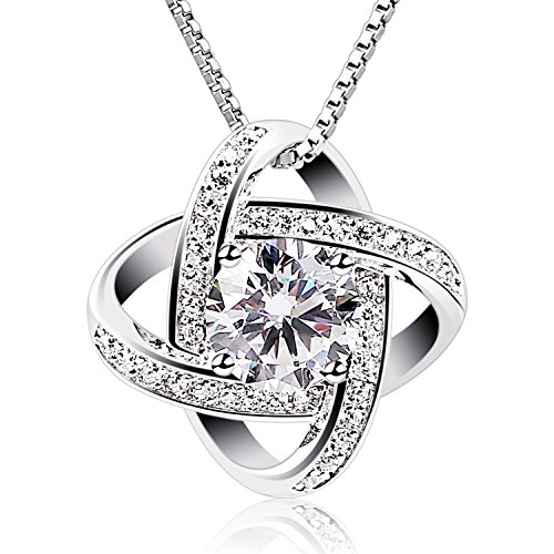B.Catcher Sterling Silver Necklaces 925 Silver Cubic Zirconia Pendant Gemini Necklace Fine Jewellery Gifts