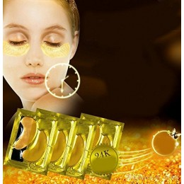 10 pairs New Crystal 24K Gold Powder Gel Collagen Eye Mask Masks Sheet Patch, Anti Ageing Aging, Remove Bags, Dark Circles & Puffiness, S...