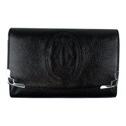 CARTIER Black Marcello Zipped Compact Wallet