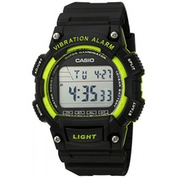 Casio Men's 'Super Illuminator' Quartz Resin Casual Watch, Color: Black (Model: W736H-3AV)