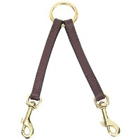 Casual Canine 2-Way Leather Dog Coupler, 12-Inch, Brown
