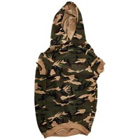 Casual Canine Cotton Camo Dog Hoodie, X-Large, Green