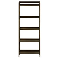 Casual Home 337-54 Stratford 5-Shelf Folding Bookcase, Warm Brown