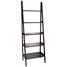 Casual Home 5 Shelf Ladder Bookcase, Espresso