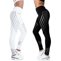 CFR New High Waist Leggings Casual Workout Active Sport Yoga Pants Ankle-Length Nine Pants Stretch Skinny Tights Black,S USPS Post