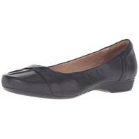 Clarks Women's Blanche Fria Core Comfort Casual, Black Leather, 6.5 M US