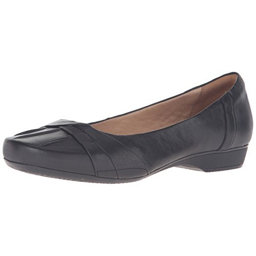 Clarks Women's Blanche Fria Core Comfort Casual, Black Leather, ...