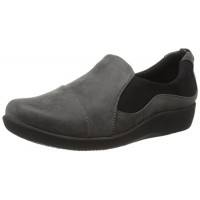 Clarks Women's Cloudstepper Sillian Paz Slip-Ons, Grey Synthetic Nubuck, 9.5 M US