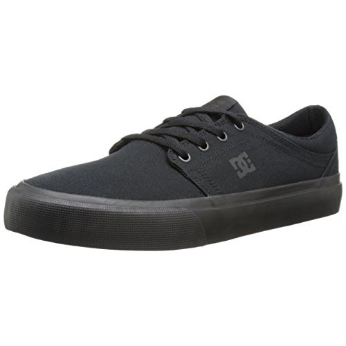 DC Men's Trase TX Vulcanized Shoe, Black/Black/Black, 10 M US
