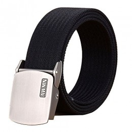Fairwin Men's Nylon Tactical Web Belt - Military Style Casual Army Outdoors Belt(Black)
