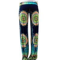 Fashion Story Women Floral Casual Wide Leg Long Stretch Pants Yoga Trousers Baggy (0/2)