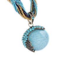 Floral® Women Fashion Euramerican Bohemian Necklace Blue Casual Pendant Beach Summer Necklaces Lady Jewelry Special Occasion Party Body J...