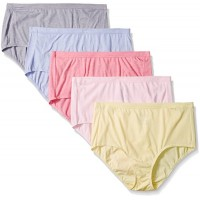 Fruit Of The Loom Women's Plus-Size 5 Pack Fit For Me Beyond Soft Brief, Assorted, 2X/10