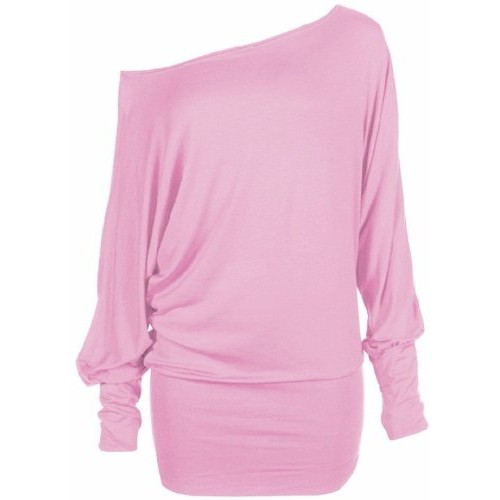 Funky Boutique Women's Plus Size Batwing Top Baby Pink 20-22 XXL