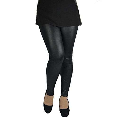 Sexy Womens Plus Size Skinny Faux Leather Leggings Pants 4XL