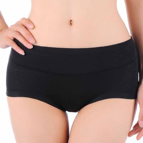 HOEREV High or Middle Waist bamboo fiber Ladies underwear