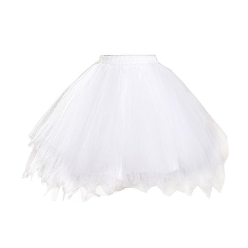 PerfectDay Women's Tutu Petticoat Skirt Prom Evening Occasion Accessory White