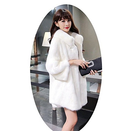 Women Fashion Winter Warm Long Jacket Faux Fur Slim Coat Fashion Casual Outwear
