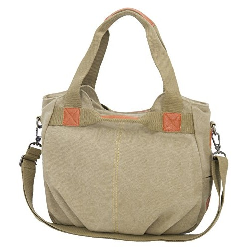 [KIREI obsession] Tote Bag w/Strap, Shoulder, Cross-Body, 3-way, Canvas, Functional, Large Capacity [SMALL] [KHAKI]