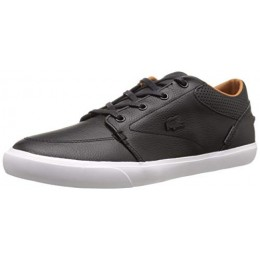 Lacoste Men's Bayliss Vulc Prm Casual Shoe Fashion Sneaker, black/black, 10 M US
