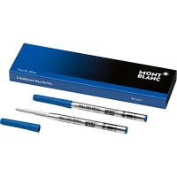 Montblanc Ballpoint Pen Refills (B) Pacific Blue 116214 / Refill Cartridges with a Broad Tip for Montblanc Ball Pens / 2 x Blue Ballpoint...