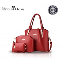 Nicole&Doris 2016 new composite bag three-piece fashion handbag shoulder bag