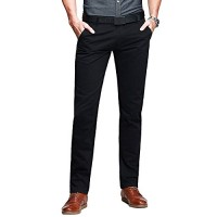 Mens Casual Slim-Tapered Flat-Front Pants Black Lable 29 (US 27)