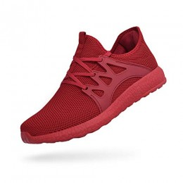 QANSI Mens Sneakers Outdoor Casual Walking Tennis Shoes for Men Boy Red 8