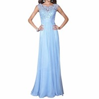 Cocktail Evening Party Gown Sleeveless Lace Slim Zipper Long Maxi Dress