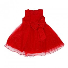 SODIAL(R) New Girl¡¯s kids Pageant Dress Prom Party Princess Ball Gown Formal Dresses, 2-7Y red 90