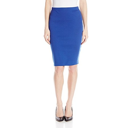 Star Vixen Women's Below-Knee Pencil Skirt with Back Slit, Royal, X-Large