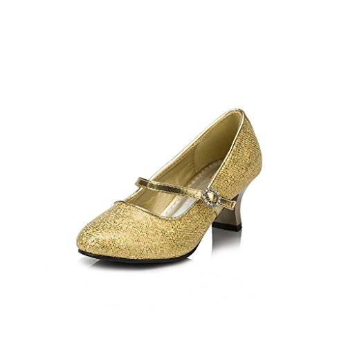 Terabithia Girls Simple Party Dress Pumps Mary Jane Shoes for Wedding 2M US Gold