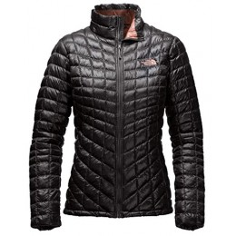 THE NORTH FACE Women's Thermoball Full Zip Jacket, TNF Black/Rose Dawn LG