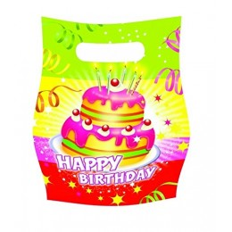 Tifany 8013401.0 Birthday Candy Bag with Multi-Coloured Pack of 6