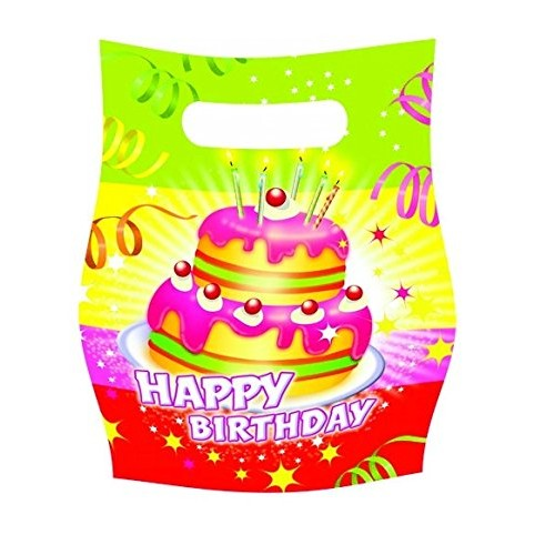 Tifany 8013401.0Birthday Candy Bag with Multi-Coloured Pack of 6