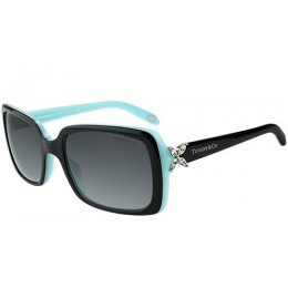 Tiffany & Co Women's Gradient TF4047B-80553C-55 Black Rectangle Sunglasses