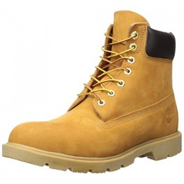 "Timberland Men's 6"" Basic Contrast Collar Boot, Wheat Nubuck, 9 M US"