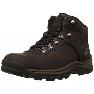 Timberland Men's FLUME MID WP Hiking Boot, Dark Brown, 10.5 M US