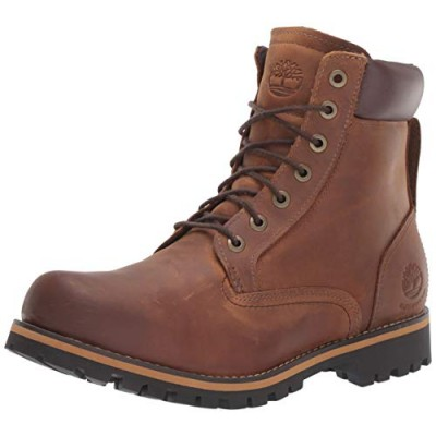 Timberland Men's Rugged 6-Inch Waterproof Fashion Boots,Red Brown, 9 M US