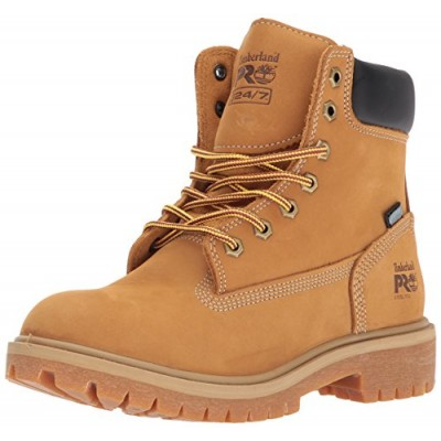 "Timberland PRO Women's Direct Attach 6"" Steel Toe Waterproof Insulated Industrial & Construction Shoe, Wheat Nubuck Leather, 9 M US"