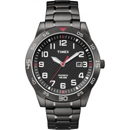 Timex TW2P61600GP Men's Casual Black Watch with Expansion Band