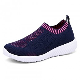 TIOSEBON Women's Athletic Shoes Casual Mesh Walking Sneakers - Breathable Running Shoes 10 US Navy