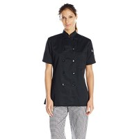 Uncommon Threads Women's Tahoe Fit Chef Coat, Black, Small