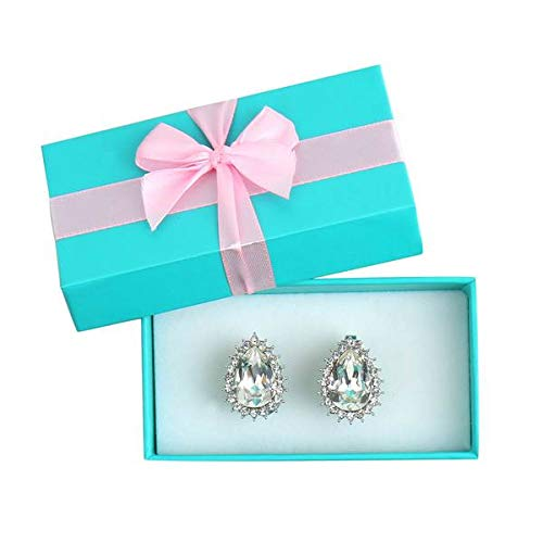 Audrey Hepburn Breakfast at Tiffany's Premium Crystal Costume Earrings