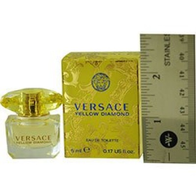 VERSACE YELLOW DIAMOND by Gianni Versace for WOMEN: EDT .17 OZ MINI (note* minis approximately 1-2 inches in height)