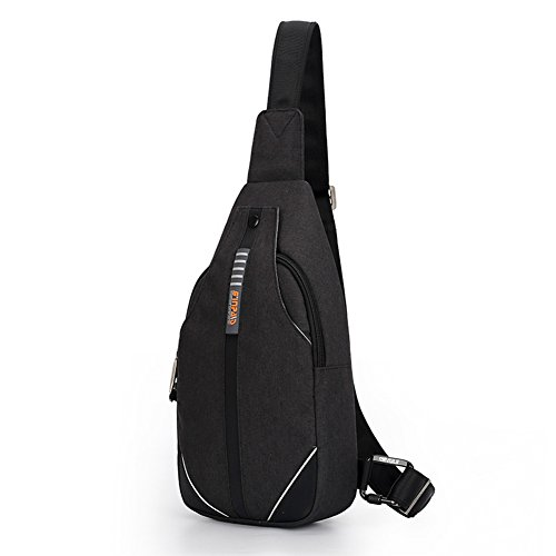 WATERFLY Sling Bag Small Backpack Purse Crossbody Anti-theft Casual for Men Women
