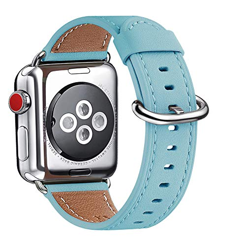 WFEAGL Compatible with iWatch Band 38mm 40mm, Top Grain Leather Band Replacement Strap for iWatch Series 4,Series 3,Series 2,Series 1,Spo...